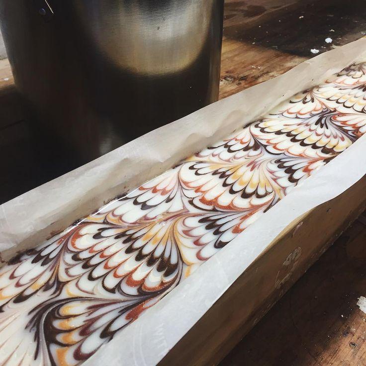 handmade soap - peacock swirl