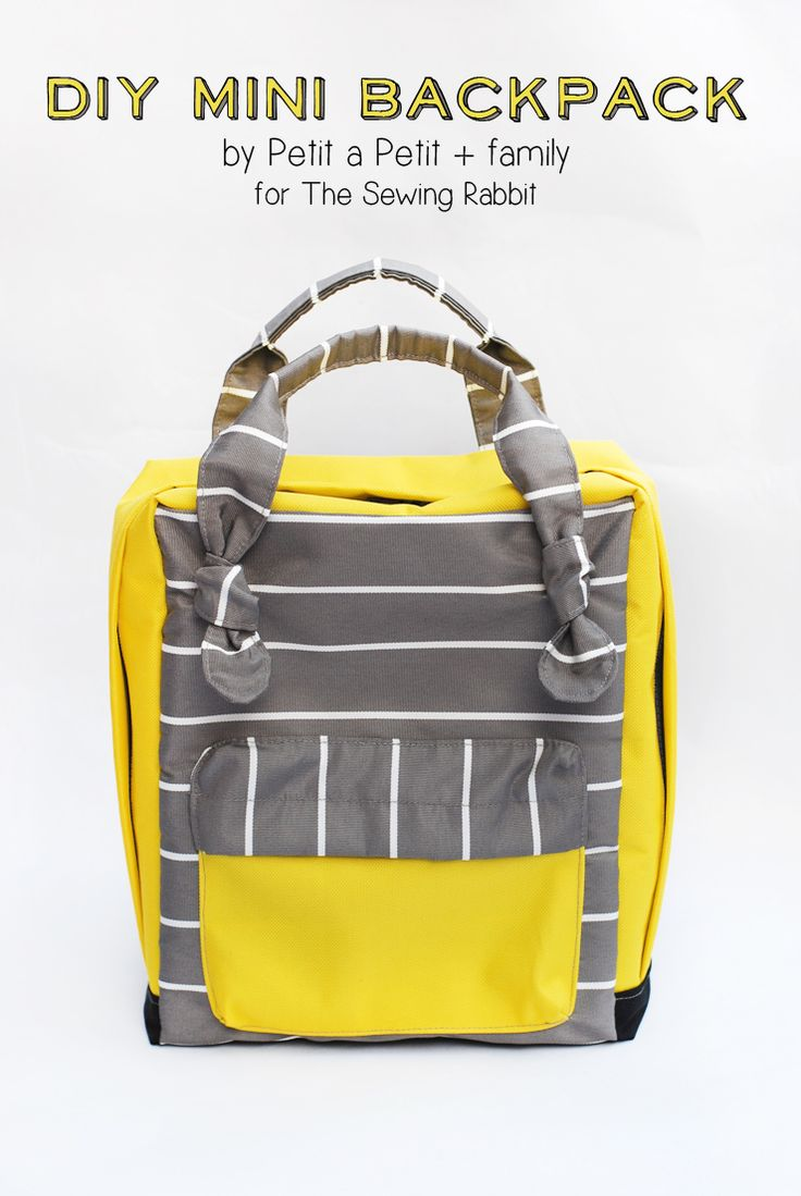 Petit a Petit's Mini Backpack - Free Sewing Tutorial