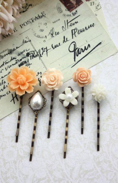 Pretty hair pins