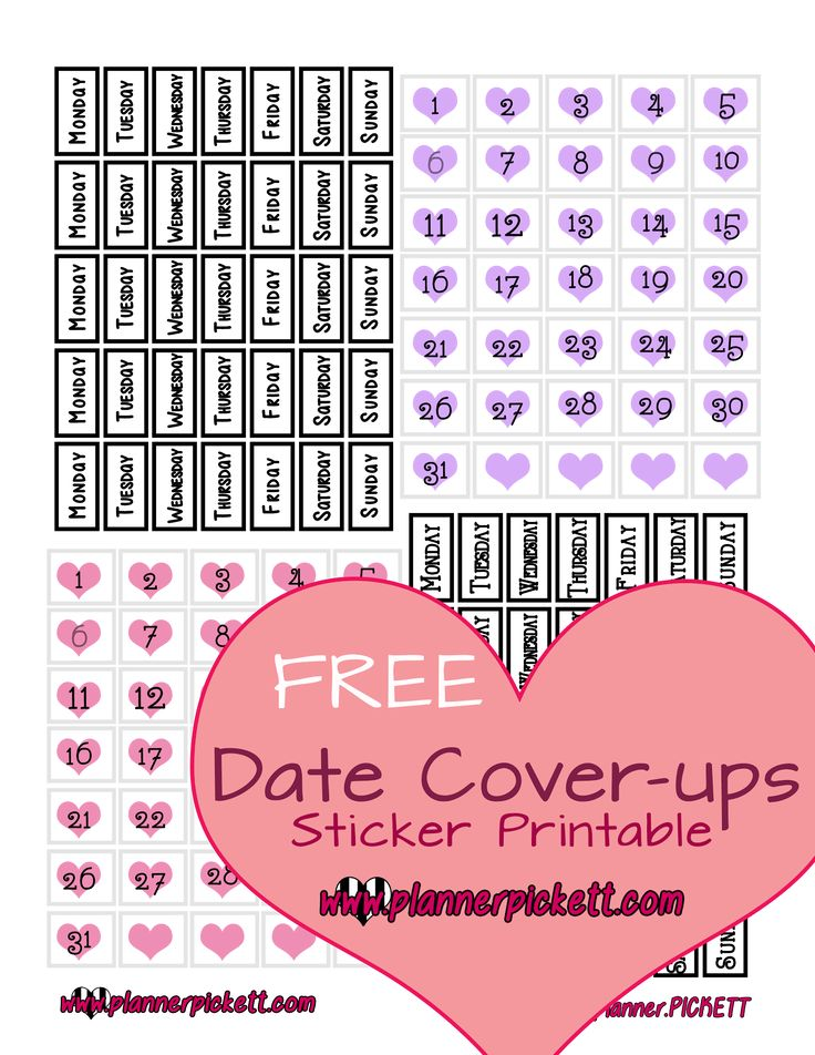 Hey guys I've been working on date covers there not perfectly amazing but they are cute and as long as you line them up with the boxes ...