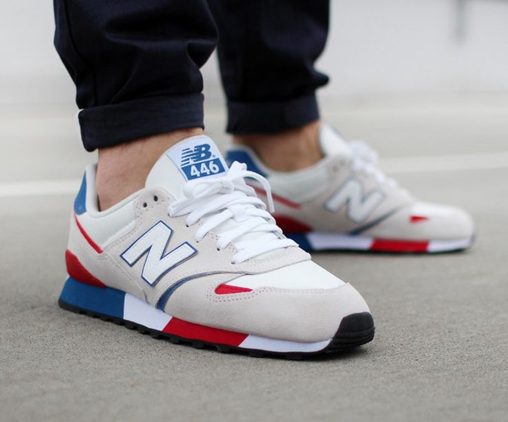 new balance 446 white and red