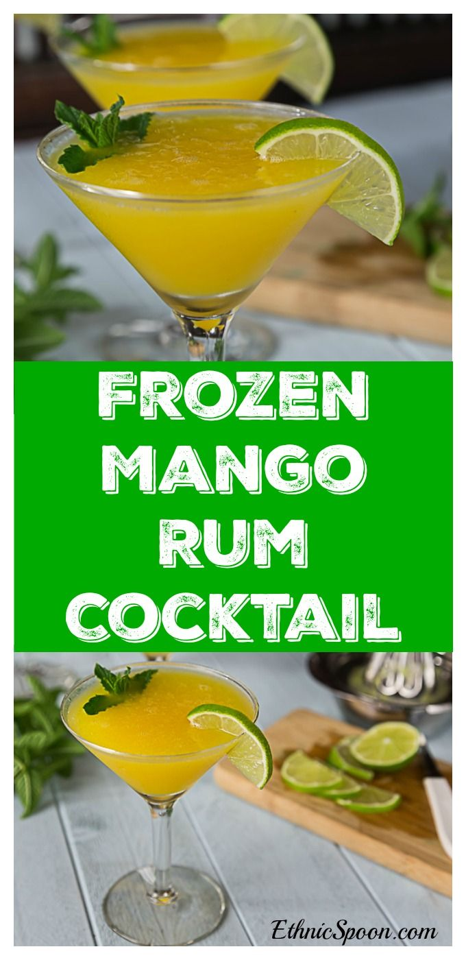 Beat the summer heat with a frozen mango rum cocktail with mint! Sweet ...