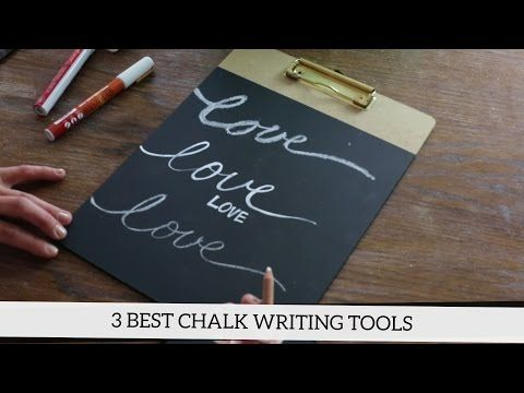 How to Write on a Chalkboard: The 3 Best Chalk Writing Tools - YouTube