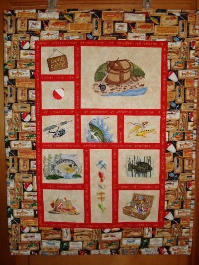 9 best Fishing quilt images on Pinterest | Fishing, Animal quilts ... : fishing quilt - Adamdwight.com