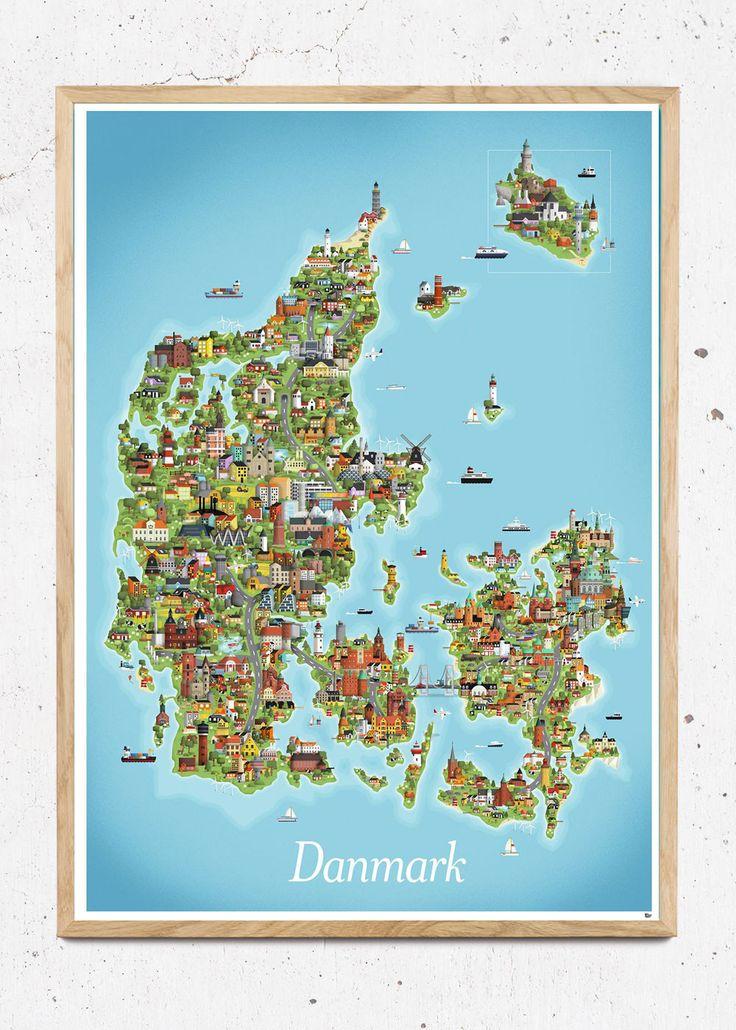 609 best danske plakater images on Pinterest Denmark, Copenhagen - new world map denmark copenhagen