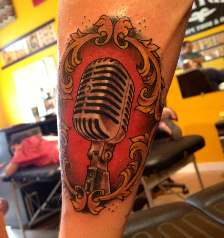 10 best images about microphone on pinterest for Minimalist tattoo artist austin
