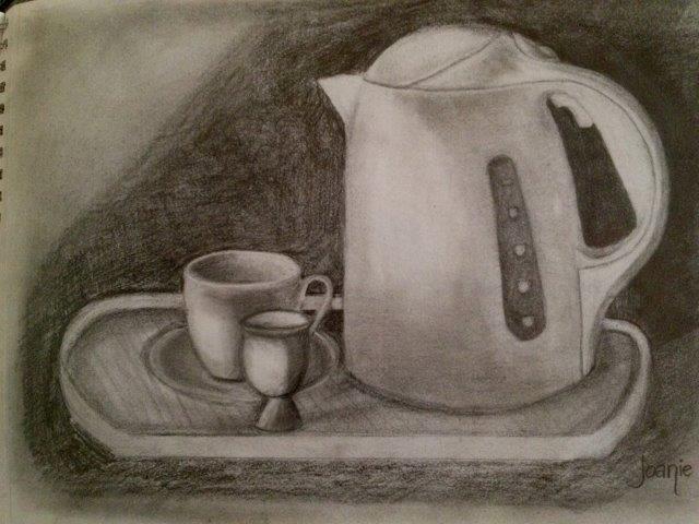 Still life drawing, Joan