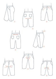 lots of great tips for adjusting the crotch to fix pants-fitting issues