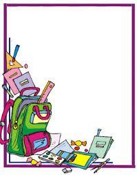 Resultado de imagen de marcos y bordes escolares