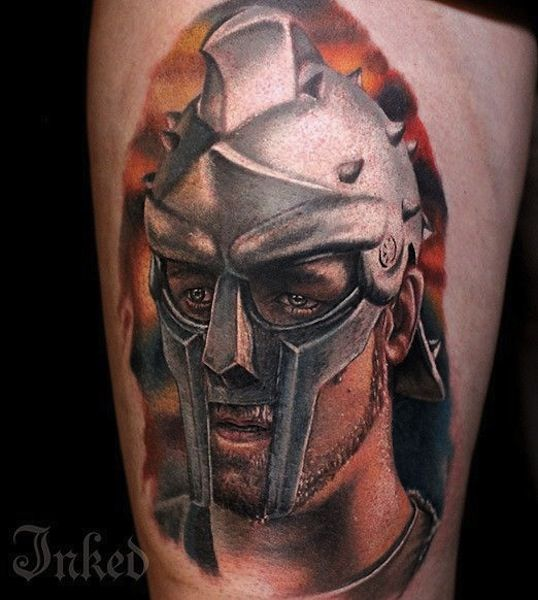 Gladiator by Luka Lajoie, Montreal, Canada   warrior tattoos
