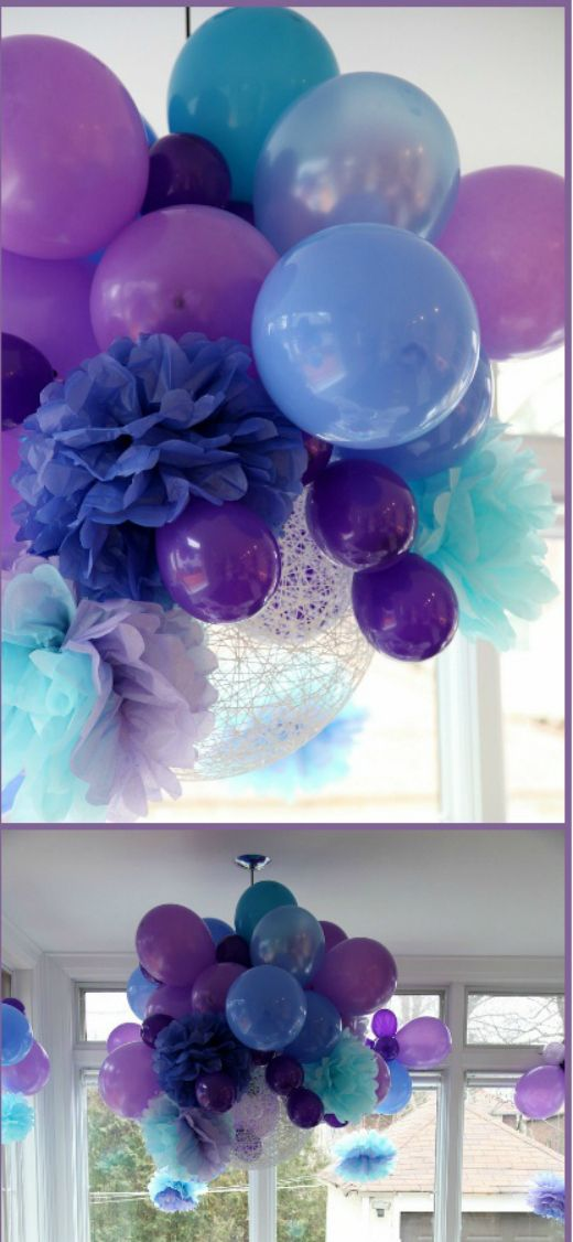 Wonderful balloon cluster party event ceiling decor for Balloon cluster decoration