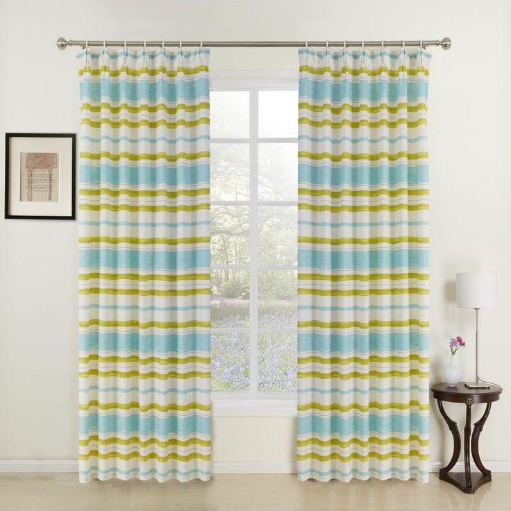 Modern Striking Print Kids Curtain   #curtains #decor #homedecor #homeinterior #green