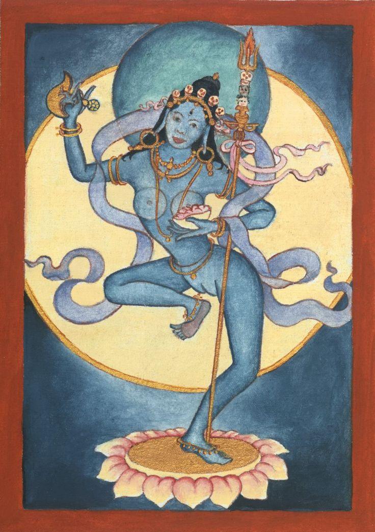 Chod Initiation Dakini Deity Card – blue   Laura Santi Sacred Art