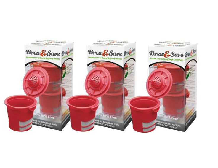 Brew & Save Reusable K-Cup Filter For Keurig Single Cup Coffee Makers - 3 X 2Pk