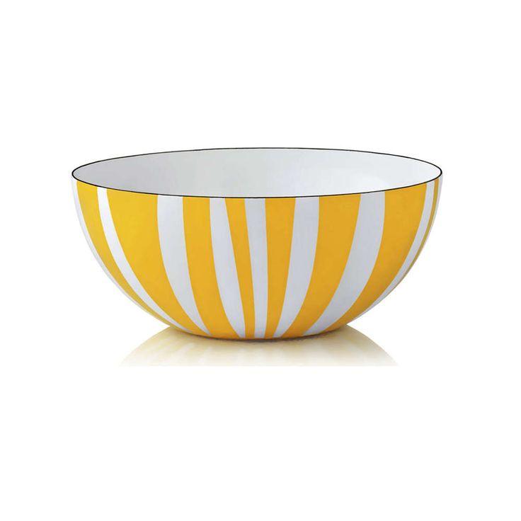 cathrineholm emaljeskål stripes gul 20cm | Ting