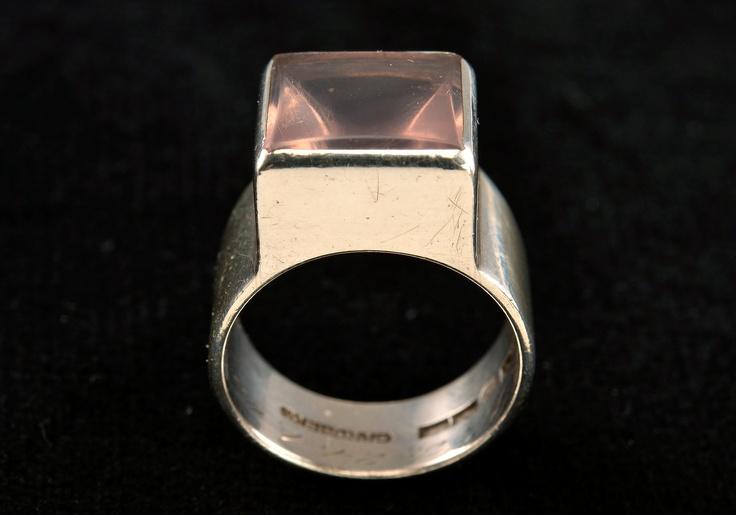 Bertel Gardberg ~Vintage silver rose #quartz #ring, 1960.