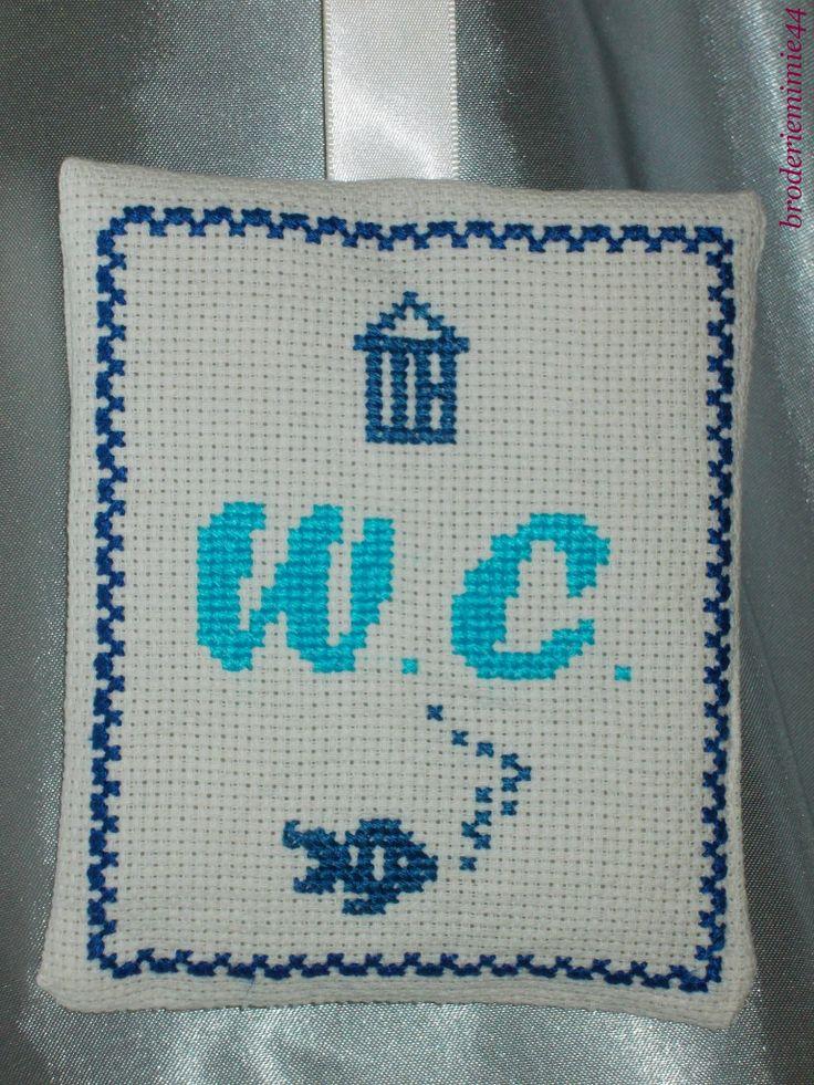 49 best Salle de bains bathroom Wc Point de croix cross stitch
