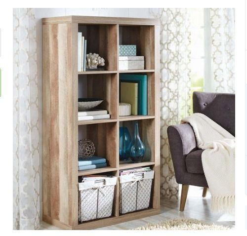 8 Cube Storage Bookcase Weathered Modern Wood Organizer Home Office  Furniture  BetterHomesandGardens  ModernRustic. 53 best Home Furniture images on Pinterest