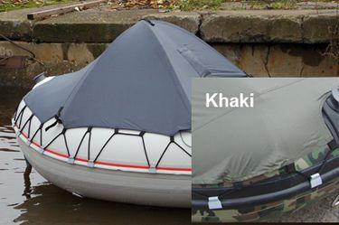 Носовой тент на лодку пвх (размер 110*90 см), Khaki  Тент устанавливается в носовую часть надувной лодки. Он предназначен для защиты пассажиров и снаряжения от брызг, дождя и встречного ветра во время движения. Имеет прочную конструкцию, несложно и быстро устанавливается, придавая судну прекрасные аэродинамические качества, а значит, не влияет на скорость. Рекомендуется для установки на модели лодок SL / DL / 370-390, а также HL 370-400 см. Конструктивные решения по его установке аналогичны…