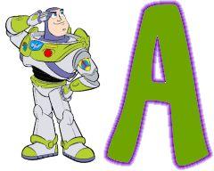 Oh my Alfabetos!: Alfabeto de Buzz Light Year de Toy Story.
