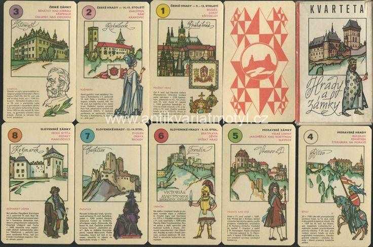 Hracie karty - Kvarteto hrady a zámky