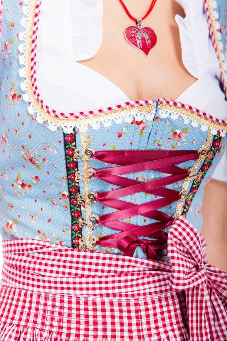 Gingham apron with flower dress?