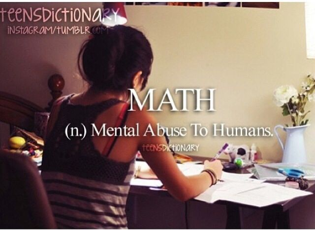 Im only pinning this is say NNNOOOOO! because math is the best thing you can do (: @Ally Baltazar r u ready fro the math derby!
