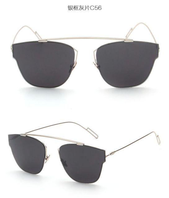 BOUTIQUE New Brand Design Women High Quality Cat Eye Sunglasses Fashion Rimless Women Cat Eye Alloy Sunglasses Men Sunglasses Love it? Visit our store
