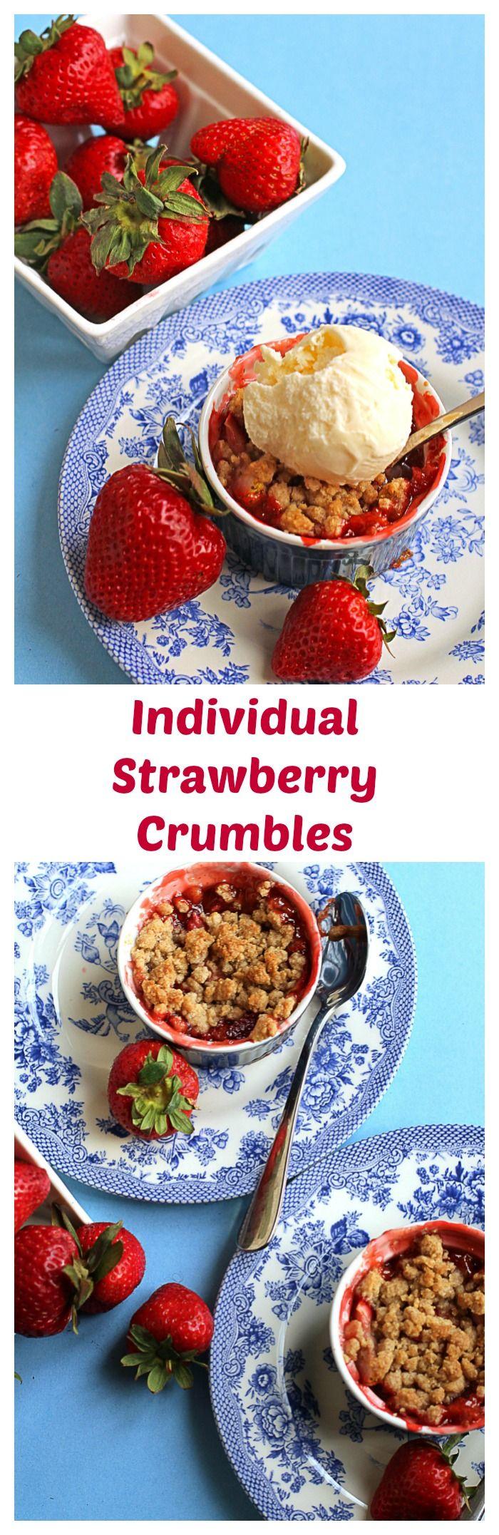 Individual Strawberry Crumbles | Grandbaby Cakes