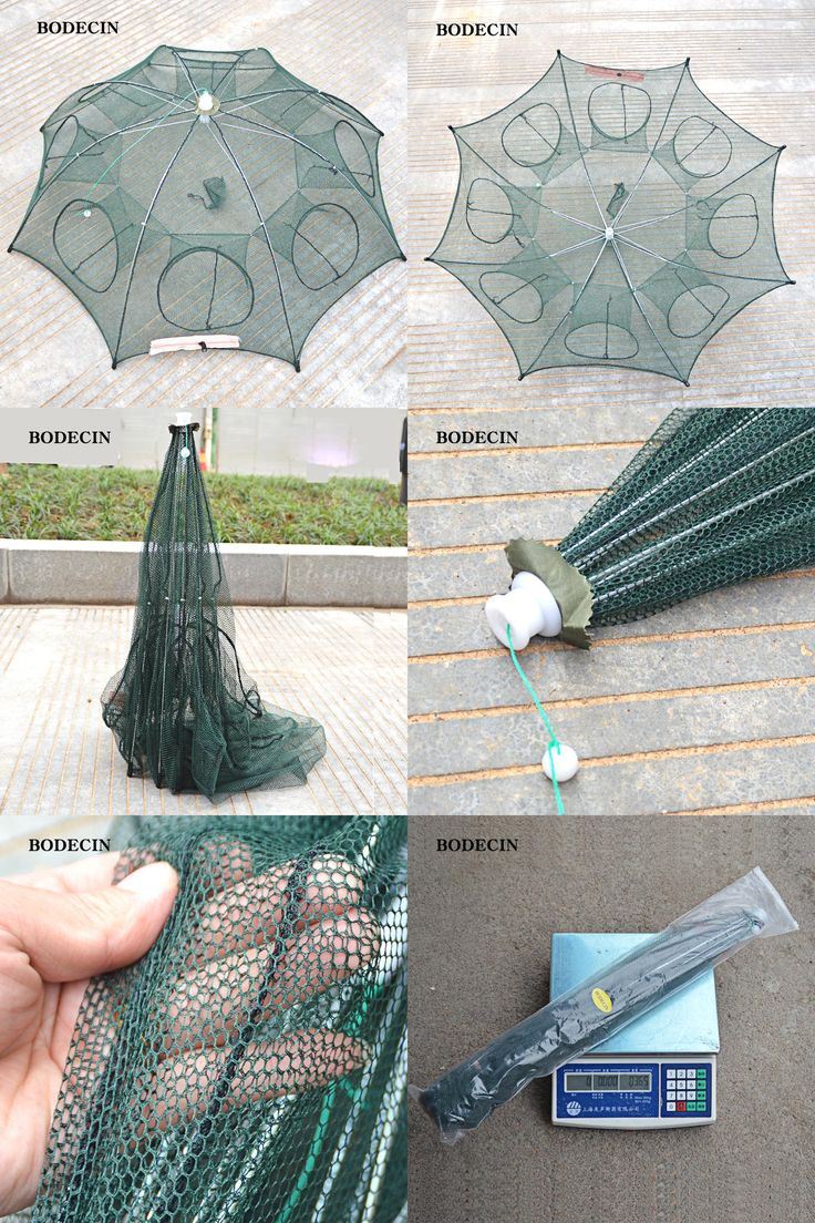 [Visit to Buy]  8 Hole Fishing Net Folded Portable Hexagon Fish Network Casting Nets Crayfish Shrimp Catcher Tank Trap China Cages Mesh Cheap #Advertisement