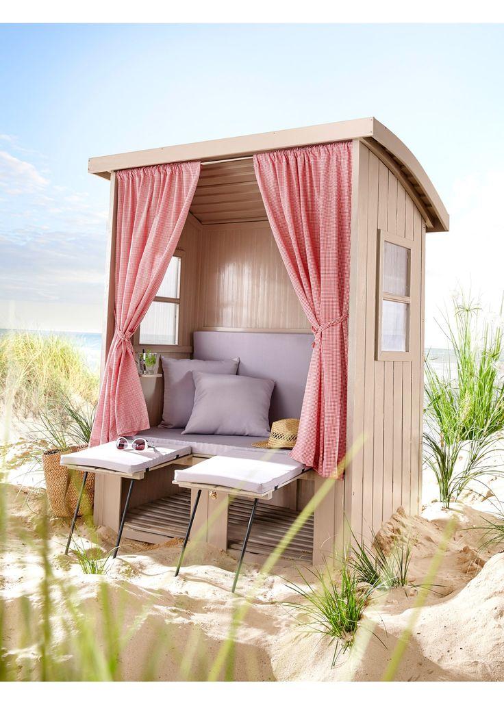 """Strandkorb """"Tirol"""" grau jetzt im Online Shop von bonprix.de ab ? 499,99 bestellen. Origineller Strandkorb aus Holz mit Fenster links und rechts und vorne ..."""
