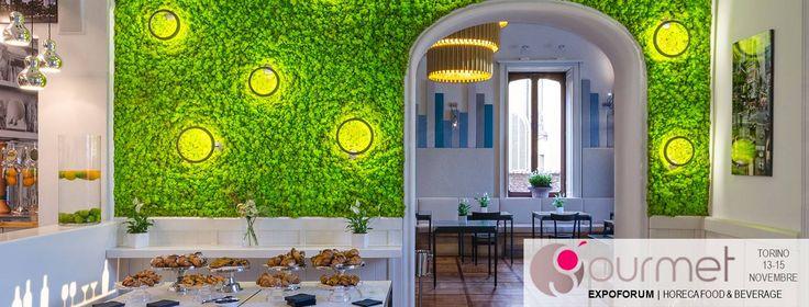 Verde Profilo parteciperà all'evento Gourmet 2016 a Torino in collaborazione con Mangiapelo Arredamenti Srl. L'evento vedrà unirsi design, cibo e natura. Vi aspettiamo allo stand H12 Padiglione 12, con il leader del settore enogastronomico in Italia ed uno dei riferimenti per gli appassionati di tutto il mondo Gambero Rosso Lingotto Fiere - Torino   #mosswall #horeca #restaurant #food #beverage  Scarica il tuo invito qui http://bit.ly/2efIhVa