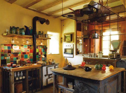 .: Dreams Kitchens, Mismatched Tile, Barns Kitchens, Cozy Kitchen, Tile Shower, Rustic Kitchens, Bohemian Kitchens, Bohemian Bathroom, Bohemian Bedrooms