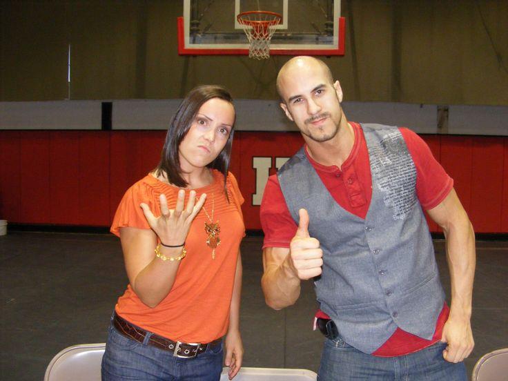 WWE Superstar Antonio Cesaro (Claudio Castagnoli) and his girlfriend Sara Del Rey (Sara Amato) #WWE #wwecouples