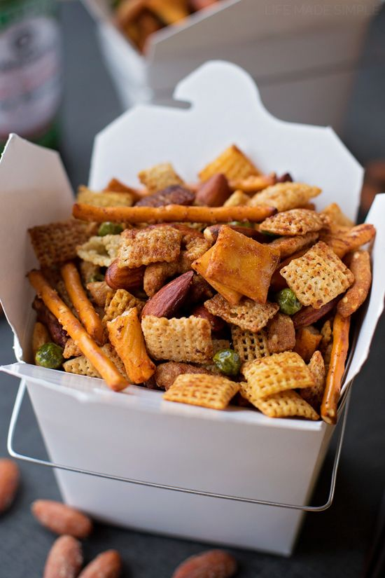 Sweet and Spicy Asian Snack Mix - Also A Great Homemade Gift