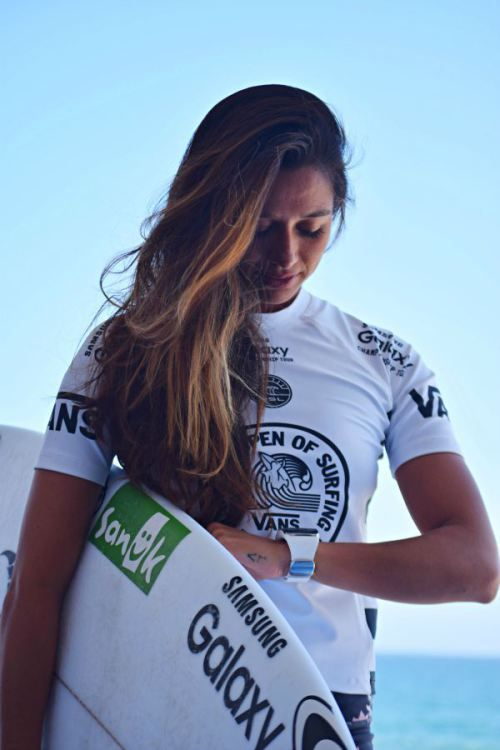 Malia Manuel prepping to surf the 2015 Vans US Open of Surfing. Plus the inside scoop on the partnership between the World Surf League and Samsung and the latest in surf technology.