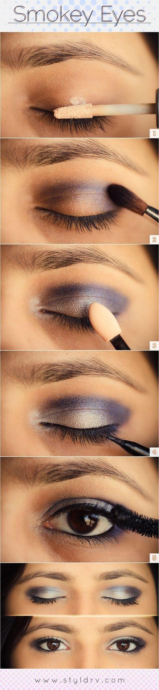 Rokerige make-up voor kleine ogen