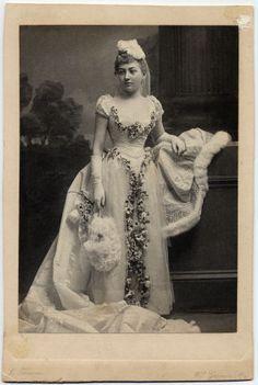 robert's wife in her wedding dress