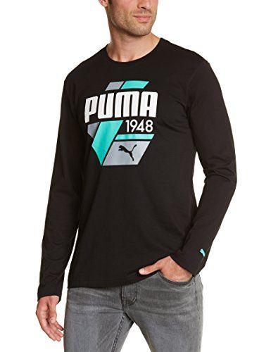 Puma FD SP Casual Strip Poloshirt Herren, mit Aufdruck, langärmlig Medium schwarz - schwarz