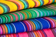 Tessuto messicano variopinto Fotografia Stock