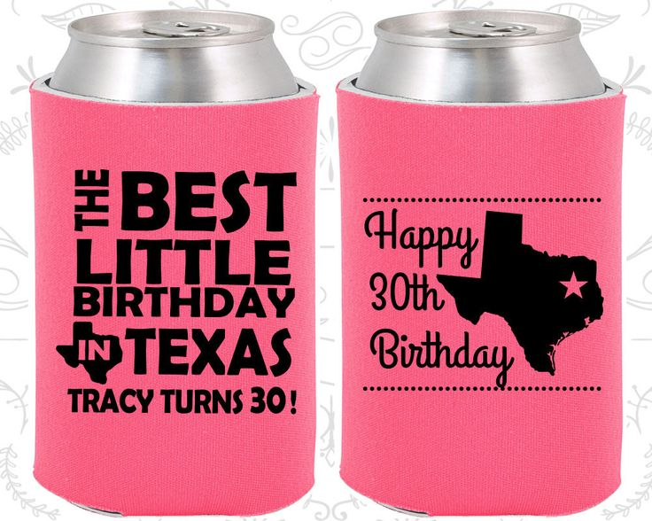 30th Birthday, 30th Birthday Favors, Imprinted Party Decorations, Texas Birthday Favors, Lone Star Birthday, Party Favors (20265)