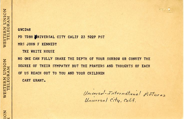 Condolence letter from Dr Martin Luther King - John F Kennedy - new example letters to a congressman