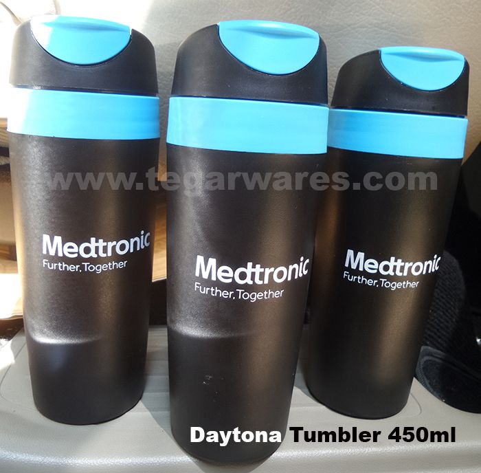 A Daytona 450ml ocean blue tumbler, ordered by PT. Medtronic Indonesia