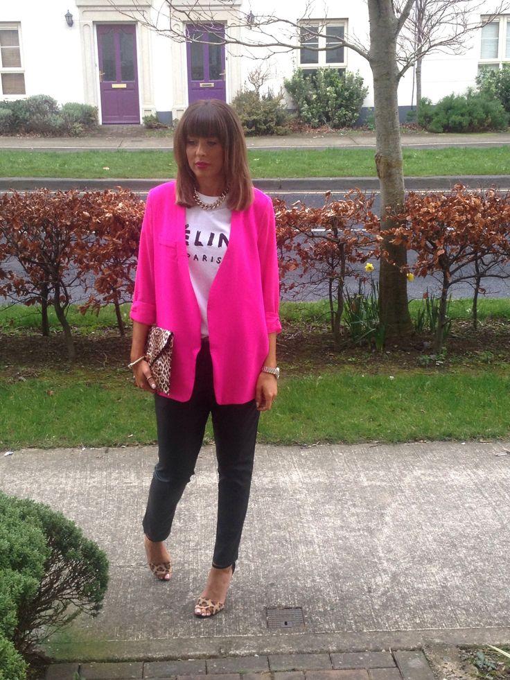 Hot pink Showpo blazer
