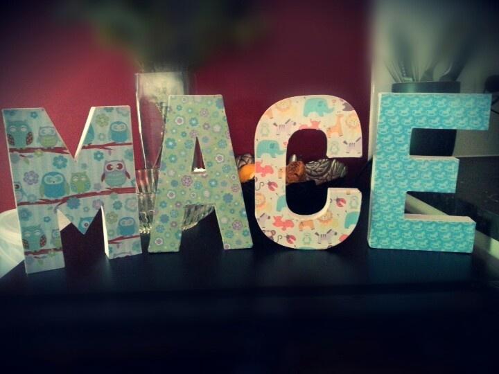 My latest piece. Paper mache letters