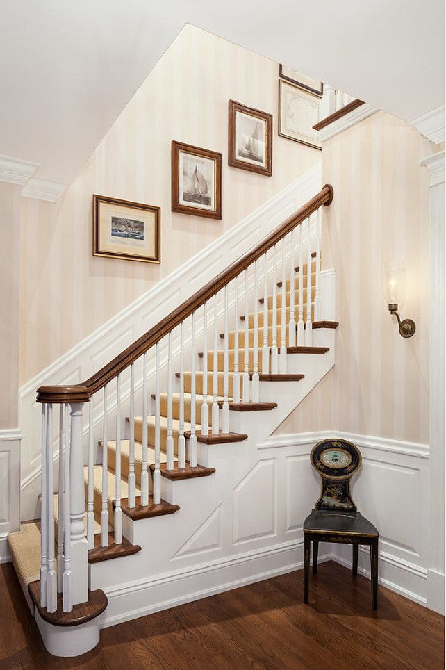 92 best staircases images on pinterest stairs homes and for Traditional foyer decorating ideas
