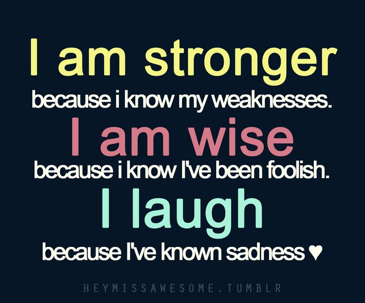 I am stronger ... #quote