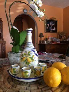 Limoncello set for Senya, thank you for sharing the photo! www.sbigoliterrecotte.it