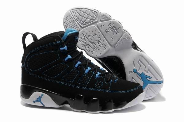 Nike Air Jordan 9 Retro Black Photo Blue White Shoes