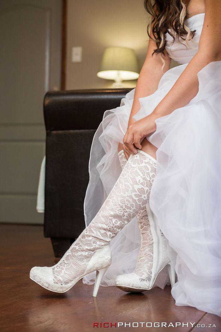 These lace wedding boots might just break the internet #WeddingHeels #Shoes #WeddingIdeas #Lace